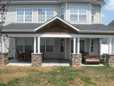 Open Porch With Stone Columns Charlotte NC