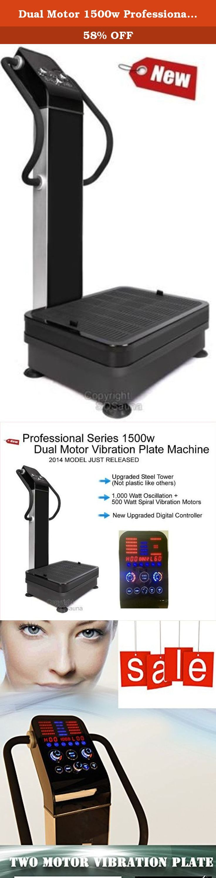 Dual Motor 1500w Professional Vibration Vibe Plate Exercise Fitness Machine. This new 2017 model has just been released to only a select few US distributors. The MSRP on these is $3,999, while some machines even go up to over $5,000! Upgraded steel body (not plastic), larger base, noiseless motors, and new digital display are just a few of the upgrades. Arm straps included for upper body workouts. Features / Specifications: 110v, 60hz for operation within US and Canada. Just plugs into…