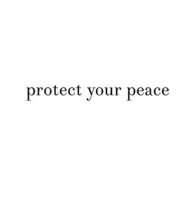 Guarding your peace is an action. It requires effort, but in Christ... all things are possible.