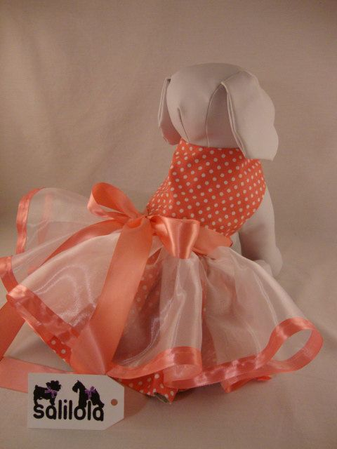 So sweet and delicious, pink polka dots on the reverse side!  Treats & Tails - Reversible Dog Dress