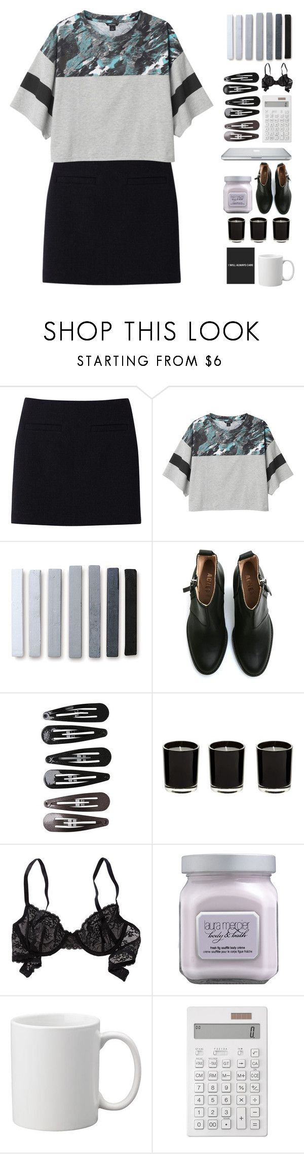 """""""""""I'll be at the wake, all dressed in black, I'll call out your name, but you won't call back"""" 💀"""" by kristen-gregory-sexy-sports-babe ❤ liked on Polyvore featuring Uniqlo, Monki, Acne Studios, Clips, Aerie, Laura Mercier, Muji and claudiasfashionsets"""
