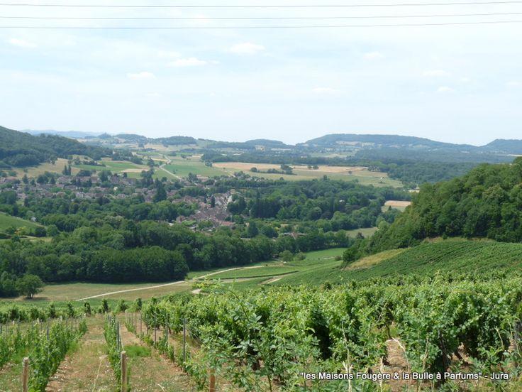 Voiteur et vignoble Chateau Chalon Jura