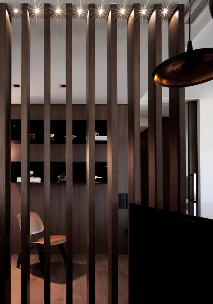 Sobriety With A Touch Of Luxury In Modern Spanish Home Wood PartitionPartition IdeasWood
