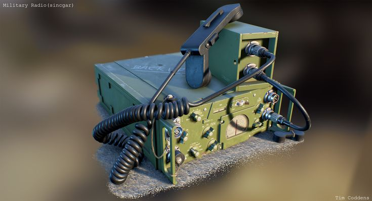 ArtStation - Military Radio (based on Sincgar RT1439), Tim Coddens