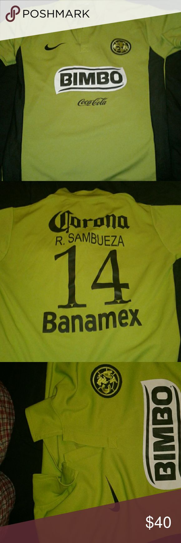Club America Jersey Club America Captain Jersey Straight from the official store At The Stadium , My cousin got it for me when he was Playing for The U16-U17 Nike Other