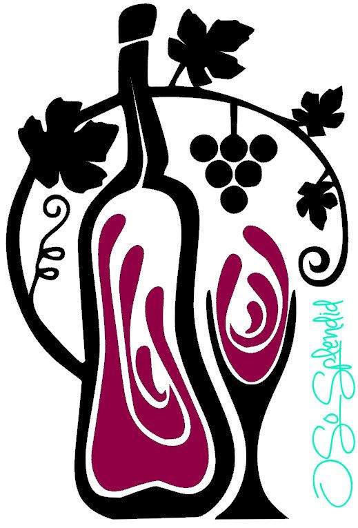 Wine bottle grapes wine glass grape vine design kitchen decor refrigerator sticker bar decor wall vinyl decal