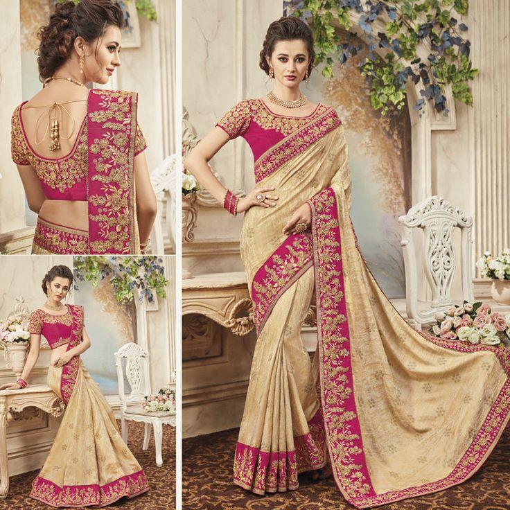 Designer Bollywood sarees Indian Ethnic Party Wear Wedding Saree Sari Blouse #Handmade #SareeBlouse