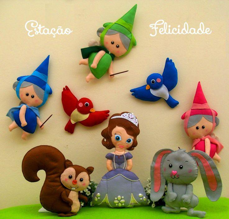     doll, plush, fabric, felt, girl, princess, Sophia the First and friends, Disney