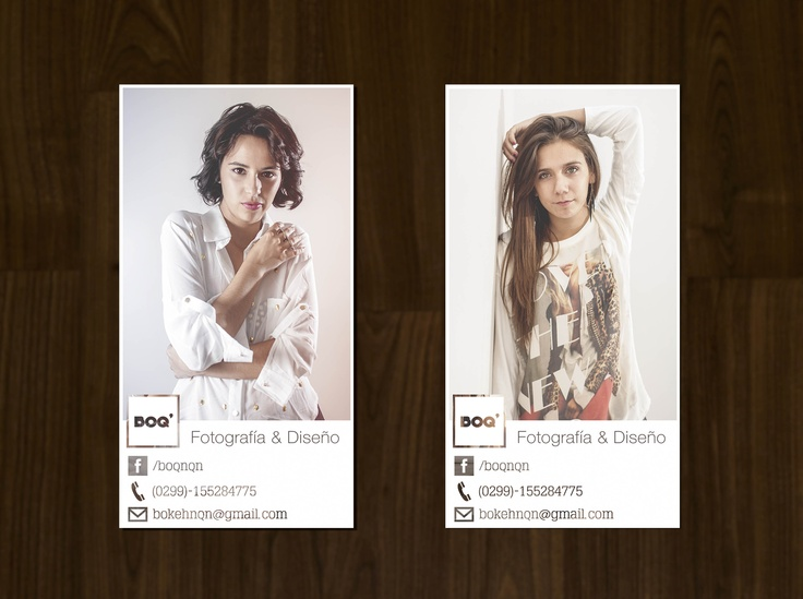 #business card #tarjetas personales #graphic design #design #diseño #typography #tipografía #helvetica #boq' #neuquen #argentina #models #girls #fashion