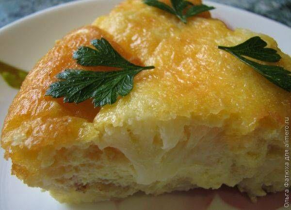 Запеканка из цветной капусты сыра и яиц / Рецепты с фото