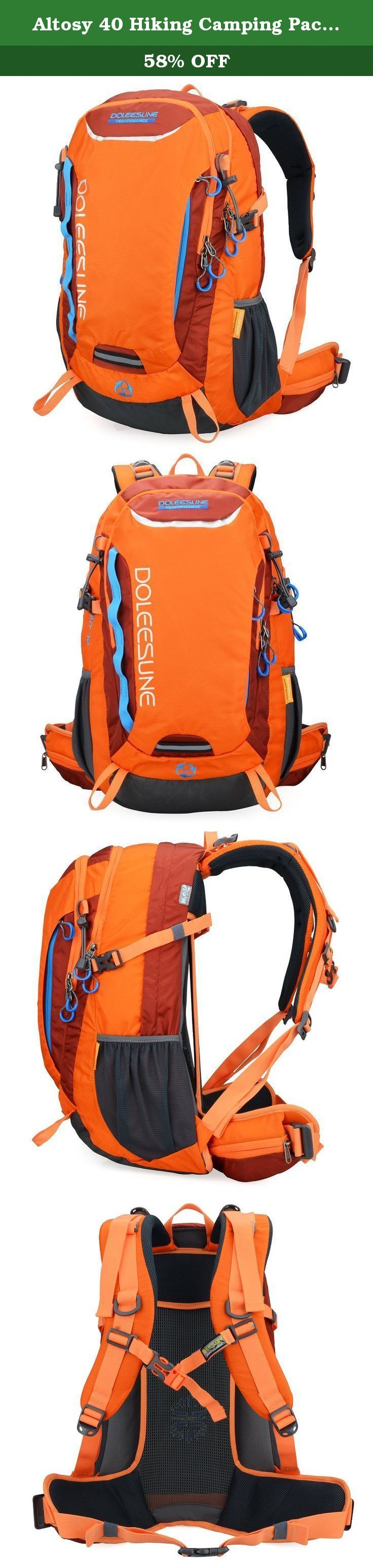 Altosy 40 Hiking Camping Pack Cycling Hiking Backpack Water-resistant Daypack 9653 (Orange, 40l). About DOLEESUNE Welcome to Doleesune Amazon Official Store, Doleesune is always committed to designing and producing high quality backpacks. Based on our high quality and good customer service, Doleesune have already supported for hundreds of thousands customers all over the world and win many customer's love and trust. Doleesune is the thing you absolutely worth to have. Product Description...