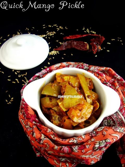 Merry Tummy: Instant Raw Mango Pickle-Summer Special Aam Ka Achaar. Step By Step