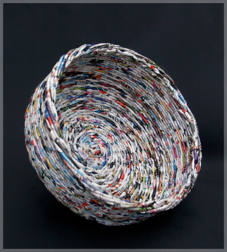 how to make a paper bowl out of magazines