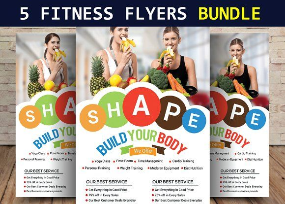 97 best Sport Flyer Design Templates images on Pinterest Flyer - fitness flyer template