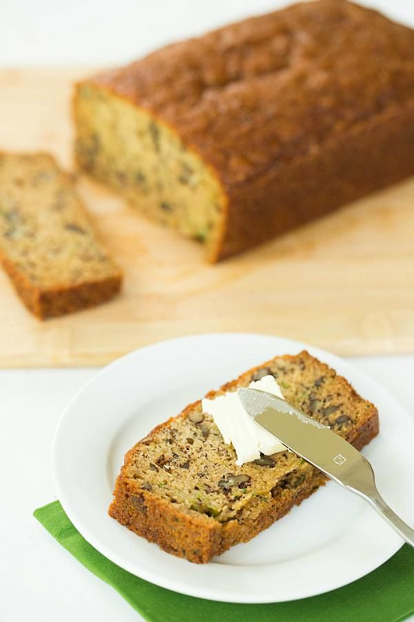 Zucchini-Banana Bread Recipe by @Michelle (Brown Eyed Baker) // The combination of bananas and zucchini means that this bread is supremely moist! #banana #bread #recipe