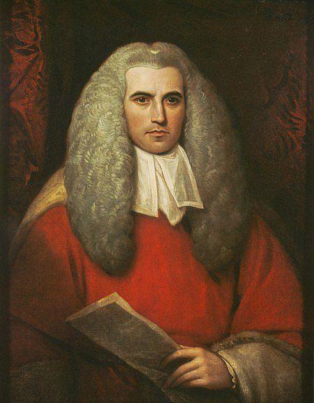 King Charles Spaniel Big Wig! Sir Thomas Strange, (1756-1841), 1799, Chief Justice in Madras, by Benjamin West