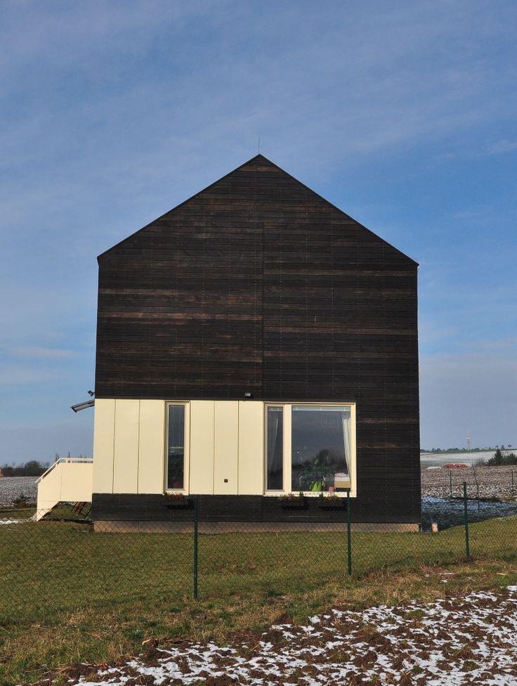 Façade bois / clins Mélèze / panneaux bois-ciment CETRIS