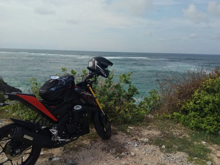 Me and Yamaha xabre at geger beach Nusa dua Bali Indonesia
