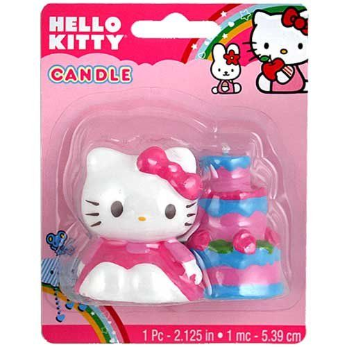 Hello Kitty Themed Party Supplies & Decoration Ideas. hello kitty candles for the birthday cake