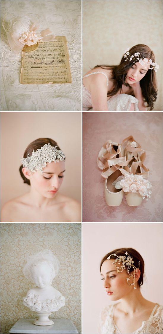 wedding hair pieces, via Twigs & Honey Images by Elizabeth Messina