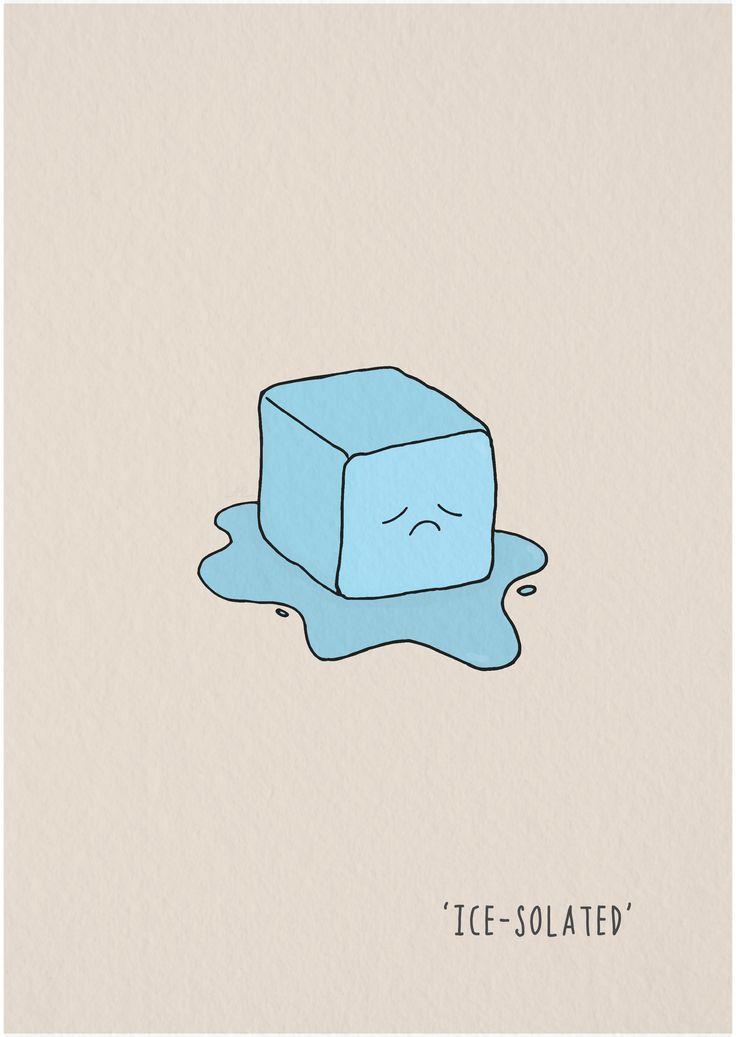 #doodleaday2016 #punnylanguage #icesolated