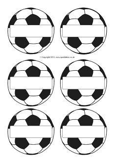 Etiwurtas de nombres balón de fútbol. ❤Soccer ball name tags