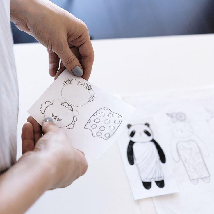 Tatiana von Beelen Panda paper doll