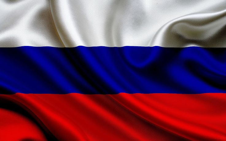 The Russian flag is composed from three colours: red means statehood, blue symbolizes Our Lady and white stands for freedom amd independence.