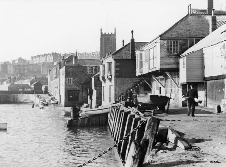 Before the wharf wall was built.