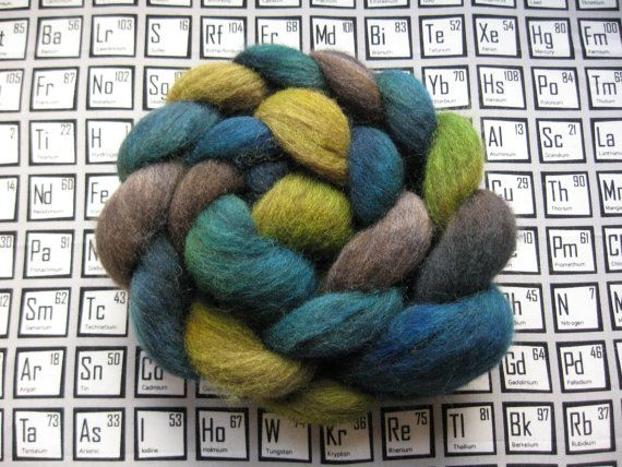 Multicolor BFL  Bromothymol Blue  4 oz by ElementalFiberworks