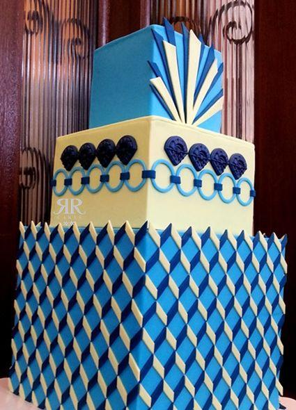 Art Deco Square Cake : Art deco cake by Jesica Harris Beatiful cakes / Tortas ...