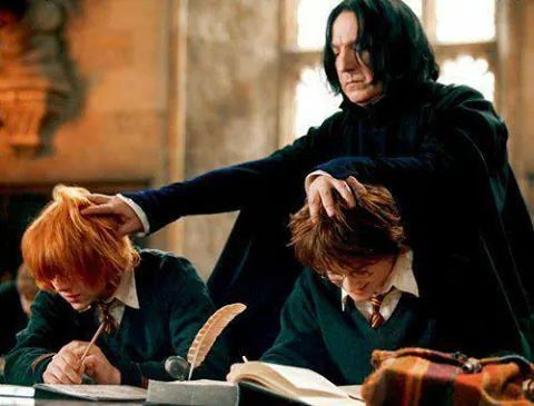 Lol. Snape making Harry and Ron study
