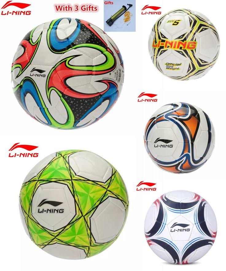 [Visit to Buy] With Inflater Li-Ning Professional Football Balls T-PU/PVC Size 5 Sport Soccer Ball balones de futbol Li Ning Training Equipment #Advertisement