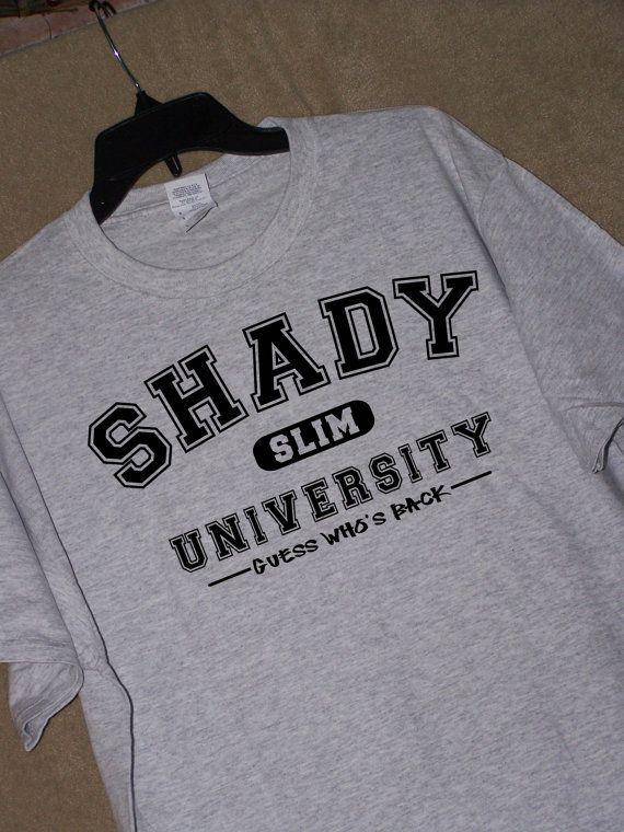 Eminem Fans... SCHADUWRIJKE Universiteit T Shirt