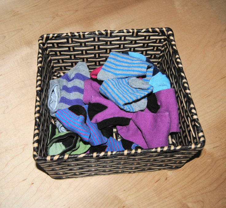 for a science and concepts activity, you have Basket 'O' Socks. Colourful little socks in a natural fibre basket. Easy for facilitating learning about matching, sorting, in and out, under etc. exploration.
