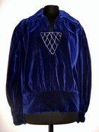 Bluza din catifea albastra anii '20 https://www.facebook.com/VINTAGE-WARDROBE-214692538572184/ #vintage