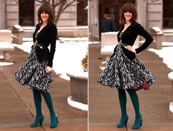 Tights with dress tumblr color