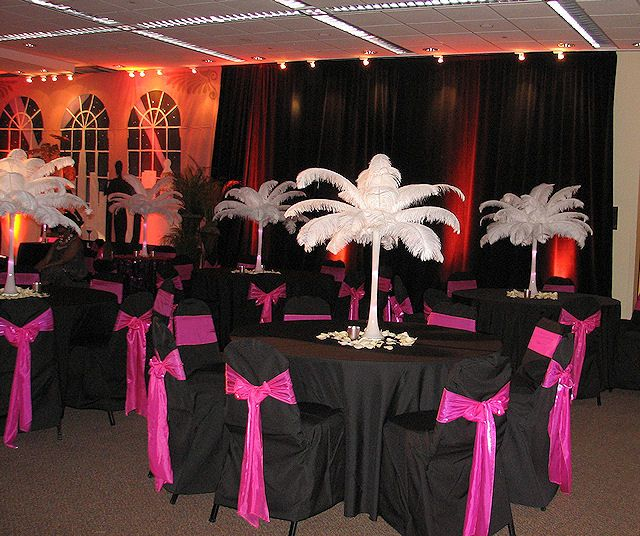 Ostrich feather centerpiece rentals wedding ideas