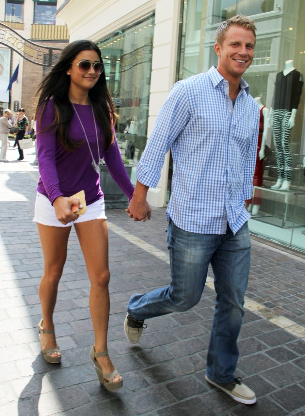 Bachelor Sean Lowe and his choice Catherine Giudici. Pulling for them to actually make it to the altar.