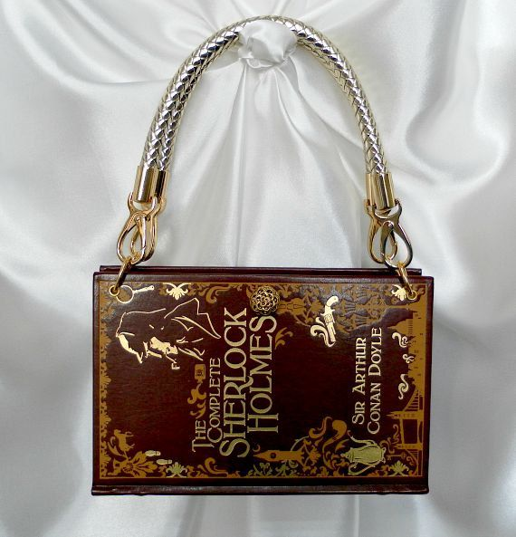 Sherlock Holmes Book Handbag UK - Sherlock Book Bag - 221B Baker Street - Sherlock Holmes Fan Gift