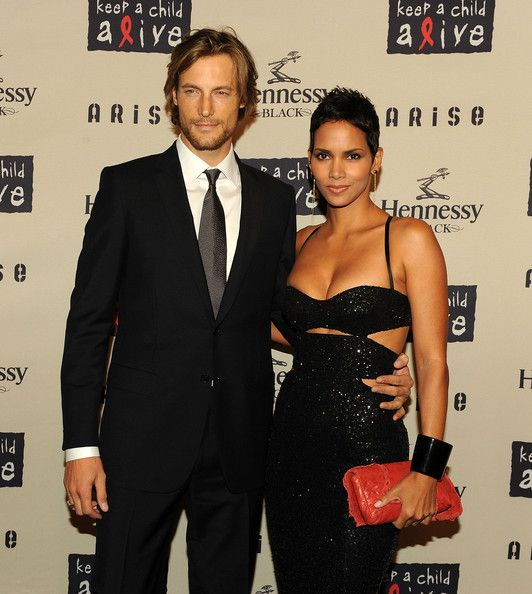 Halle Berry and exboyfriend, Model Gabriel Aubry at The 6th Annual Keep A Child Alive Black Ball