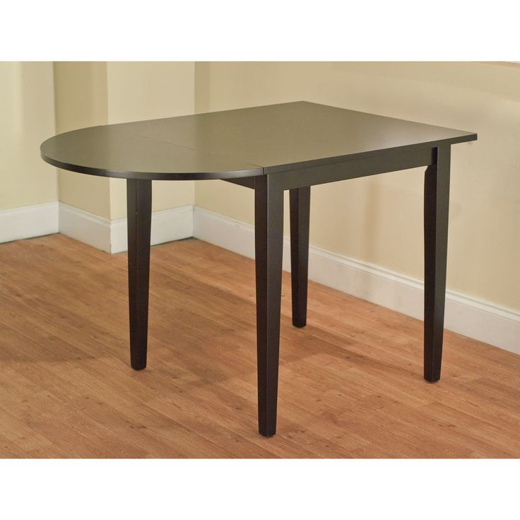 Simple living country cottage black drop leaf dining table for Black dining table with leaf
