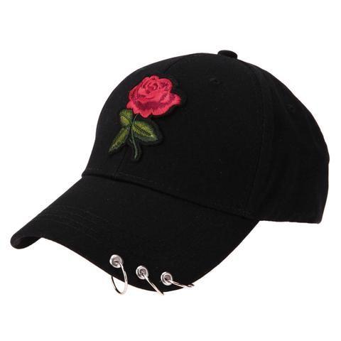 Unisex Casual Baseball Cap Hiphop Men Women Gravity Falls Flower Embroidery  Iron Ring Snapback Hip Hop 86b4cd0d2f70