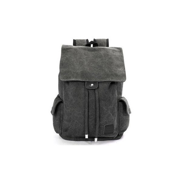 Casual Outdoor Travel School Canvas Backpack (220 MAD) ❤ liked on Polyvore featuring men's fashion, men's bags, men's backpacks, bags men's bags backpacks, black, mens backpacks, mens canvas backpack and mens travel backpack