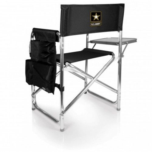 Sports Chair - Black (U.S. Army) Digital Print