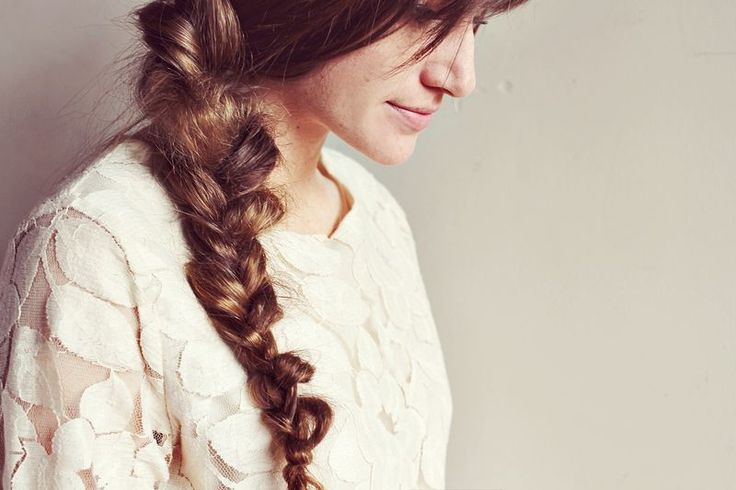Messy braid, I love this idea, though all of my braids are fairly messy with layered hair.