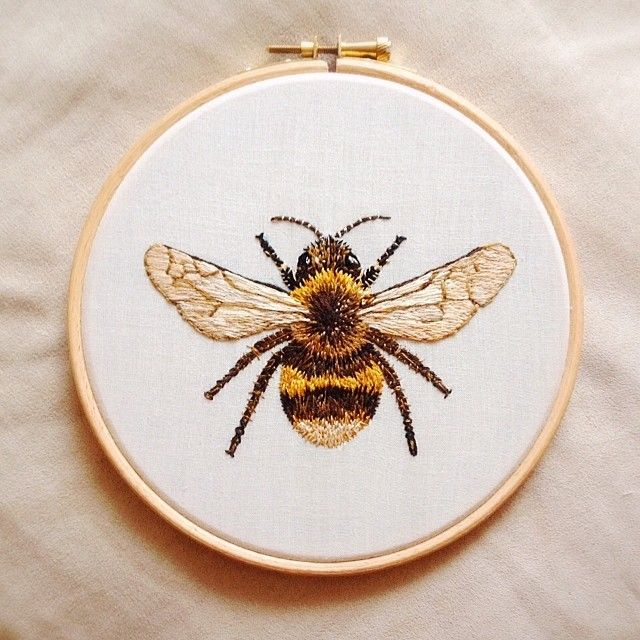 The best ideas about bee embroidery on pinterest