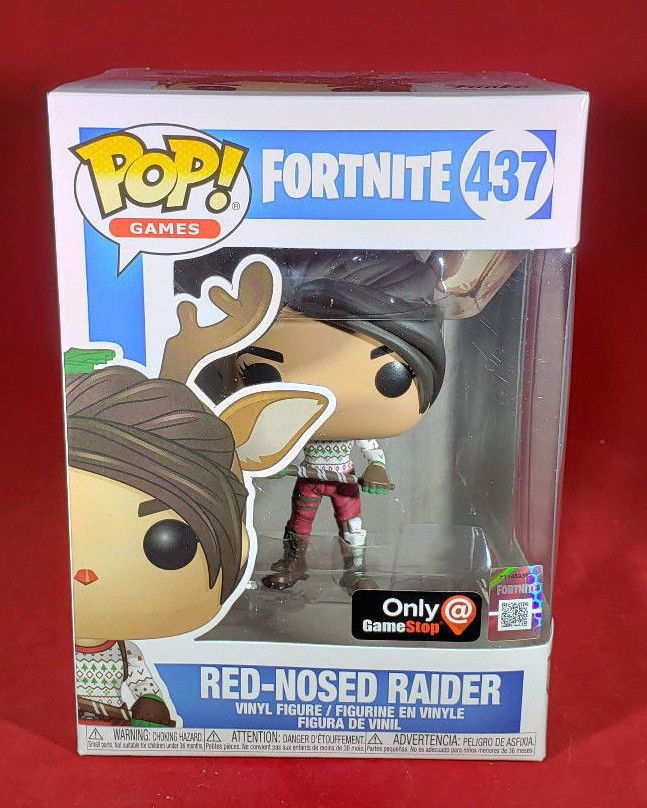 Funko Pop Games Fortnite Red Nosed Raider 437 Gamestop Exclusive