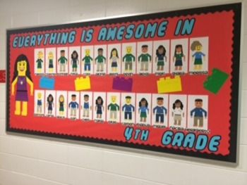Back to School: Everything Is Awesome Bulletin Board  Lego Beginning of the Year K, 1st, 2nd, 3rd, 4th