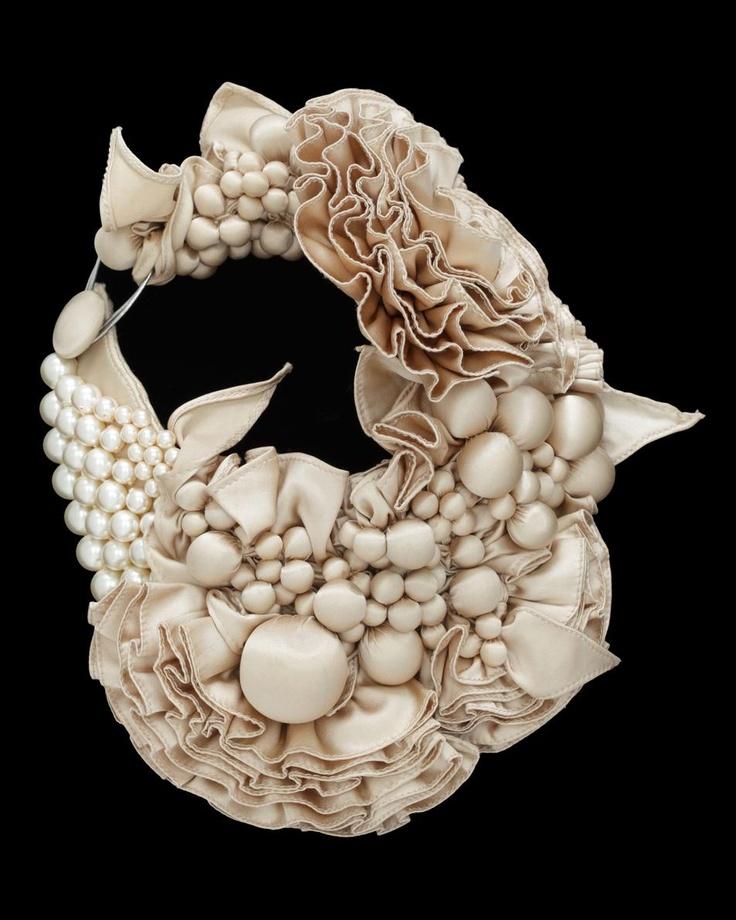 'fleur de mal' necklace bea valdes couture lab